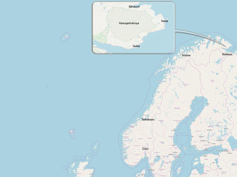 Carte du Voyage en Hiver dans le varanger en Norvège delieutraz patrick